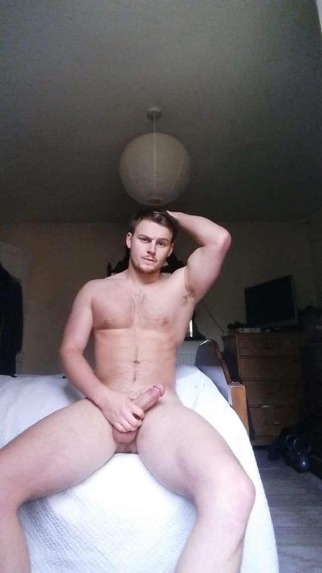 Nude Man On Bed