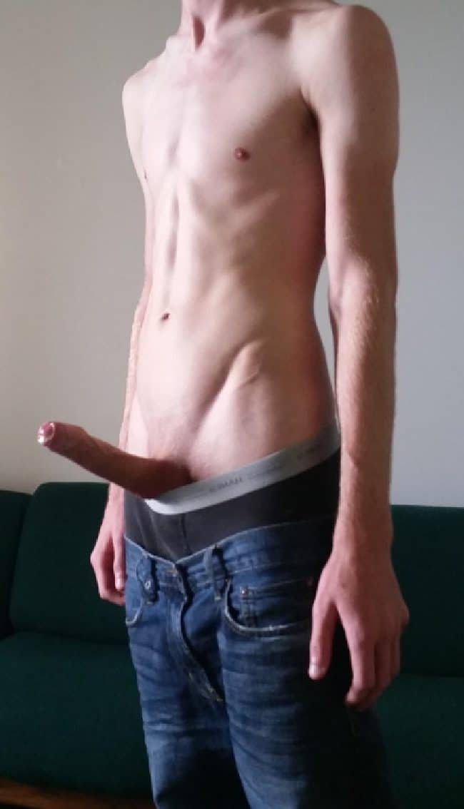 Slim Guy Hard Cock