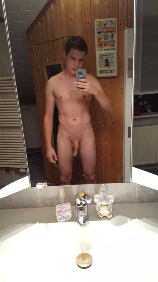 Nude twink shaved cock
